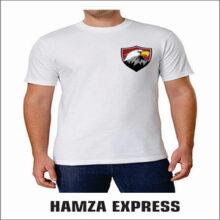 White Polyester Tshirt Half sleeve New Design
