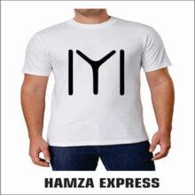 White Polyester Tshirt Half sleeve New Design Ertugrul