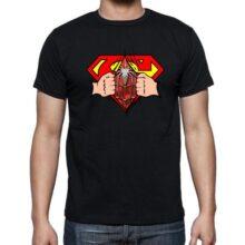 Cotton Tshirt Black Round Neck New Design