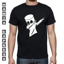 Black Cotton T shirt Round Neck Latest Design