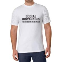 White Polyester Tshirt (Social distancing) Large size