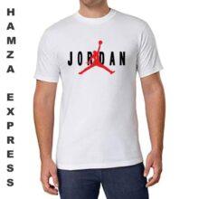 Jordan Cotton T shirt Round Neck White