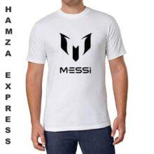 Messi Cotton T shirt Round Neck White