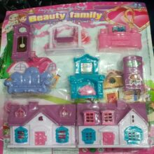 Beautiful faimly doll set Doll house Toy for kids