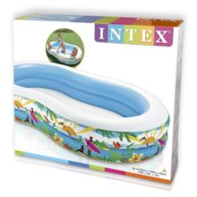Swimming Pool For kids (INTEX) Paradise Pool ( 103″ x 63″ x 18″ ) (56490)