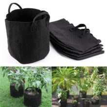 Grow bags (pots) Fabric For gardening-BLACK COLOUR-