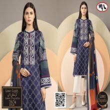 3PC Crystal Lawn Suit With Chiffon Dupatta 7804