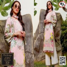3PC FIRDOUS Crystal Lawn Suit With Chiffon Dupatta 7434