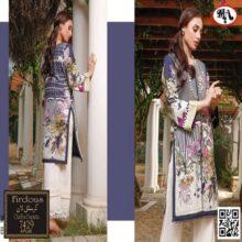 3PC FIRDOUS Crystal Lawn Suit With Chiffon Dupatta 7429