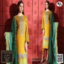 3PC CHARIZMA Crystal Lawn Suit With Chiffon Dupatta 7460