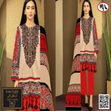 3PC LIMELIGHT Crystal Lawn Suit With Chiffon Dupatta 7462