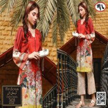 3PC FIRDOUS Crystal Lawn Suit With Chiffon Dupatta 7428