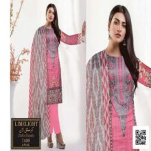 3PC LIMELIGHT Crystal Lawn Suit With Chiffon Dupatta 7430