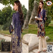 3PC FIRDOUS Crystal Lawn Suit With Chiffon Dupatta 7444