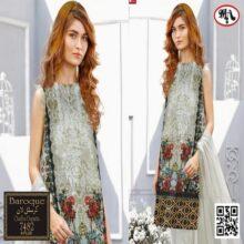 3PC BAROQUE Crystal Lawn Suit With Chiffon Dupatta 7482