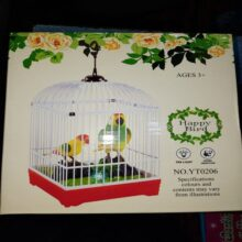 Happy bird cage with light and music