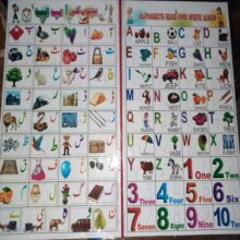 Alphabet read and write learn with eraseable board FOR KIDS
