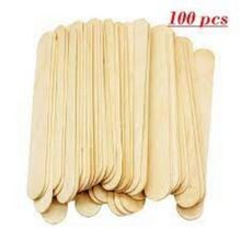 100 Pcs Large Disposable Wax Waxing Wooden Body Hair Removal Stick Applicator Spatula