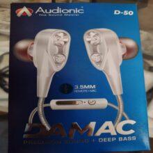 Audionic D50 Hand Free Super Bass HandFree Ear Phone