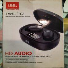 TWS-T12 HD Audio Truely Wireless In Ear Headphone Portable Charging Box