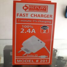 Fast Charger 2.4A 1 Minute 1% Charging