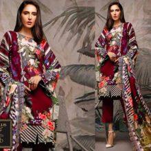 3PC FIRDOUS Crystal Lawn Suit With Chiffon Dupatta 7389b