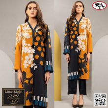 3PC LIMELIGHT Crystal Lawn Suit With Chiffon Dupatta 7493