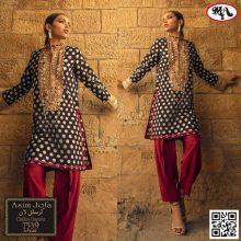 3PC ASIM JOFA Crystal Lawn Suit With Chiffon Dupatta 7539