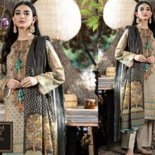 3PC ORIENT Crystal Lawn Suit With Chiffon Dupatta 7473