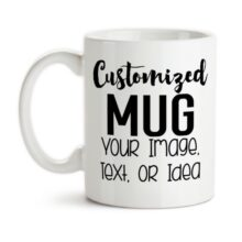 White Mug Customized Picture with your Design