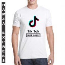 Customized Tshirt For TikTokers White Cotton Round Neck
