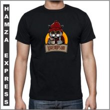 Black Cotton Tshirt New Cat Design BY HAMZA EXPRESS