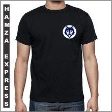 Black Cotton Tshirt New Wolf Design BY HAMZA EXPRESS