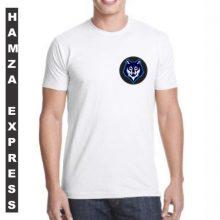 White Cotton Tshirt New Wolf Design BY HAMZA EXPRESS