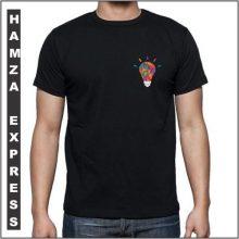 Black Cotton Tshirt New Bulb Design BY HAMZA EXPRESS