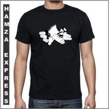 Black Cotton Tshirt New Design BY HAMZA EXPRESS