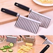 Crinkle Fries Cutter Knife with Handle Potato Slicer – Stainless Steel BY HAMZA EXPRESS
