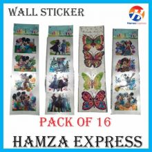 Wall Stickers Pack Of 16 BY HAMZA EXPRESS